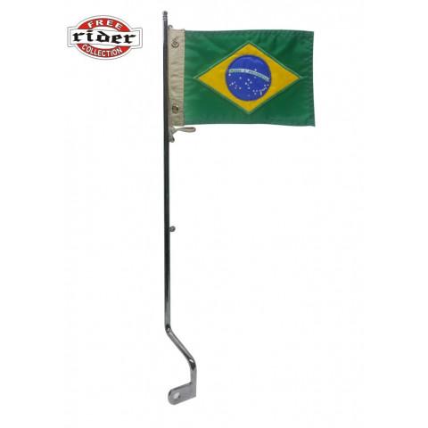 BANDEIRA PARA MOTO COM HASTE  - 0 BRASIL