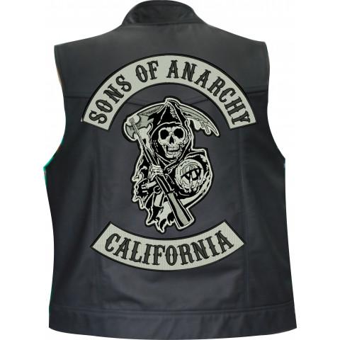 Colete Couro Personalizado Sons Of Anarchy ( California )