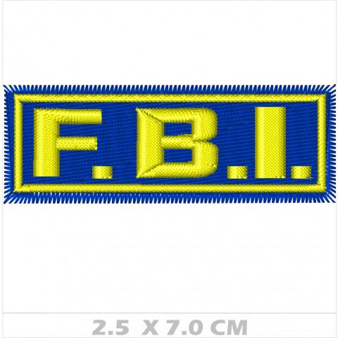 WA01-00020  BORDADO FBI 7 cm FDO MARINHO