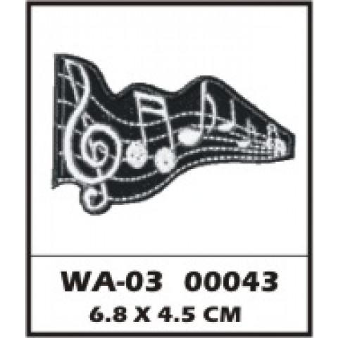 WA03-00043 - BORDADO CLAVE SOL