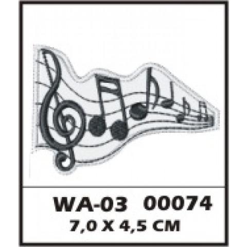 WA03-00074 - BORDADO CLAVE SOL - FUNDO BRANCO
