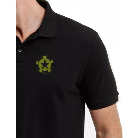 Camisa Polo Bordado Estrela do Exérecito