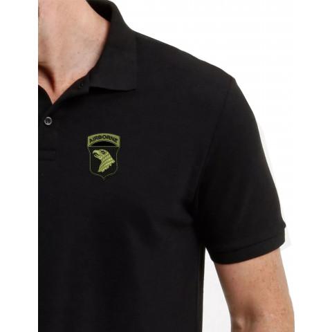 Camisa Polo Bordado Sniper Aguia Verde Oliva