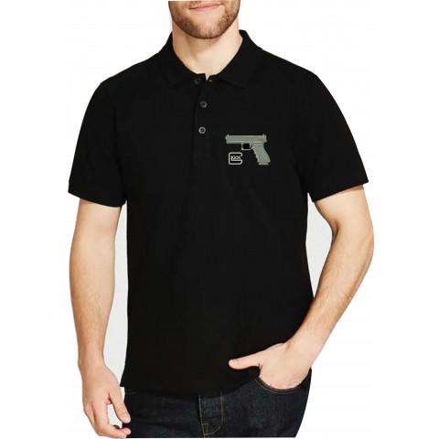 Camisa Polo Bordado Glock Arma