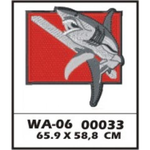 WA06-00033 - BORDADO DIVER TUBARAO