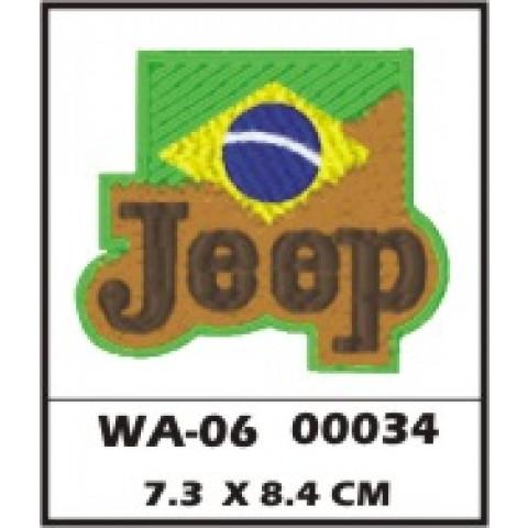 WA06-00034 - BORDADO JEEP BRASIL