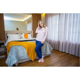 Pijama Soft Rosa Palido/Marinho