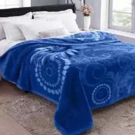 Cobertor King Raschel Plush Sinfonia Azul