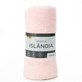 Manta Sherpa Islândia Daju 127x152 Cm Rosa