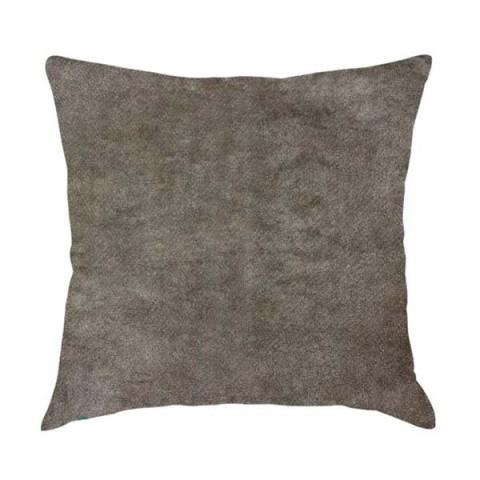 Almofada de Veludo Marmorizado 43x43 Cm Marrom