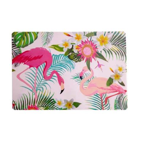 Lugar Americano Multicolorido Flamingo 28x43 Cm