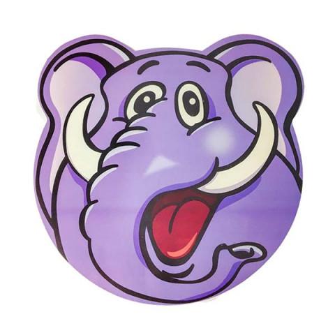 Lugar Americano Multicolorido Elefante 30x30 Cm