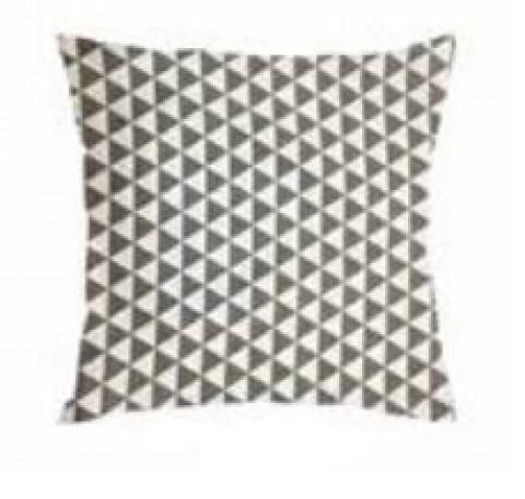 Almofada Havana 45x45 Cm Triângulo Cinza e Branco