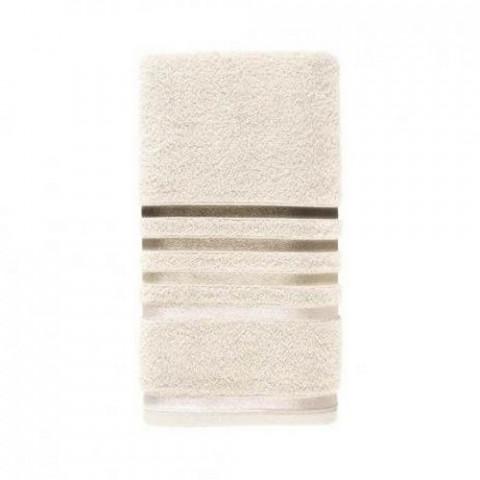 Toalha de Banho Karsten Fio Penteado Lumina Ivory/Marrom