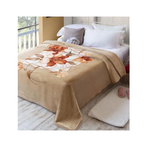 Cobertor Casal Raschel Plush Molino Bege