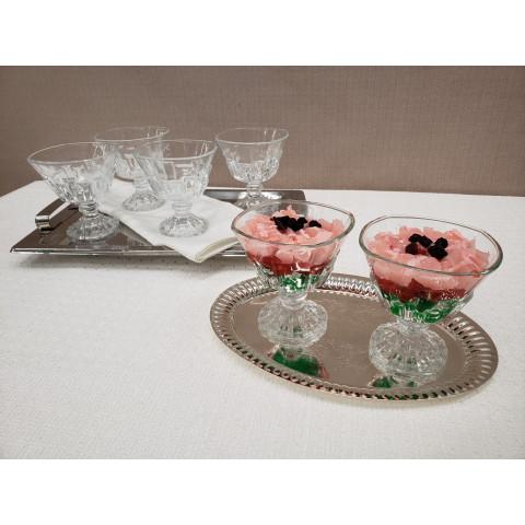 Conjunto de Taça para Sorvete de Vidro 6 Peças