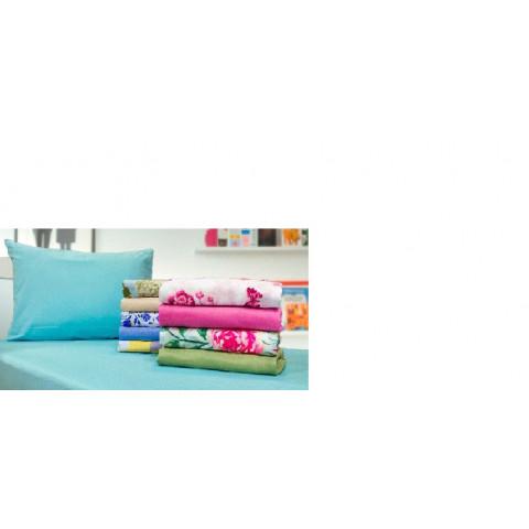 Lençol Casal Microfibra C/ Elastico Floral Azul Sort