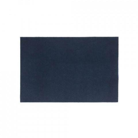 Tapete Home Agul Liso 39X59 Cm Ref 10 Azul Marinho .