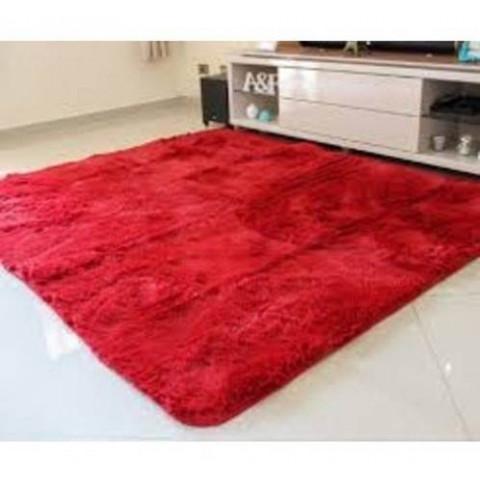 Tapete Plush Liso 200X250 Vermelho