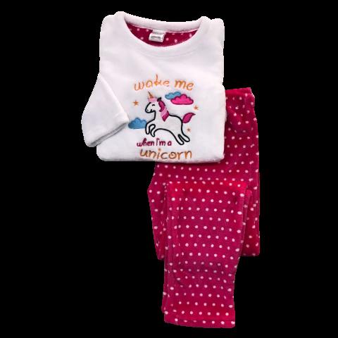 Pijama Flanel Bordado Kids Daju Unicórnio