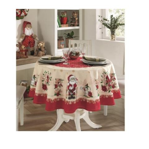 Toalha De Mesa Natal Genebra Estampado 160 Cm