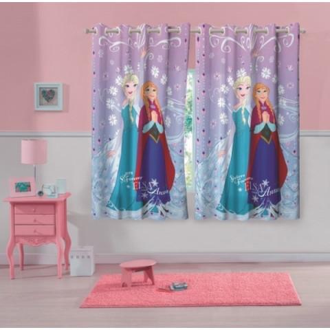 Cortina Infantil Personagens 300x180 Cm Frozen