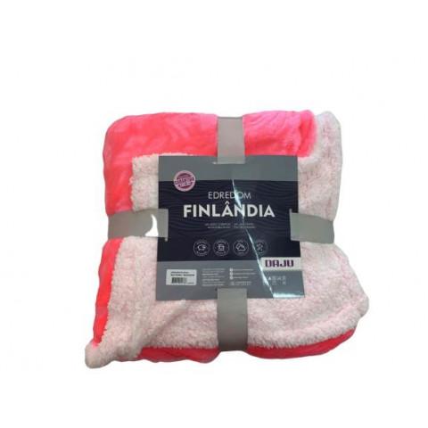 Edredom Solteiro Pele Carneiro Finlandia Pink