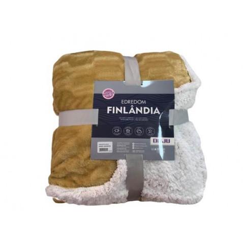 Edredom  King Pele Carneiro Finlandia Marrom Claro