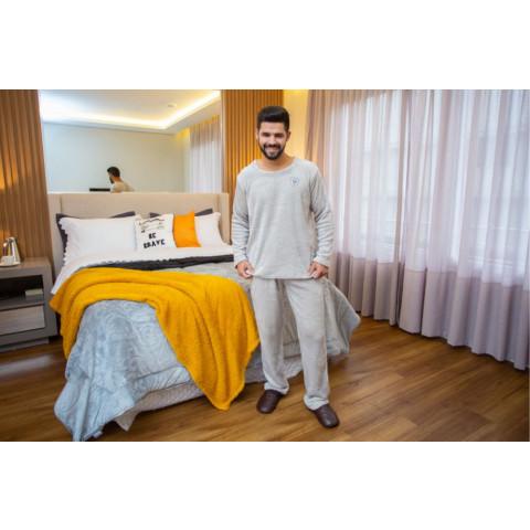 Pijama Flanel Bordado Daju Brasao