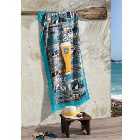 Toalha De Praia Gigante Velour 152x76cm Beers .