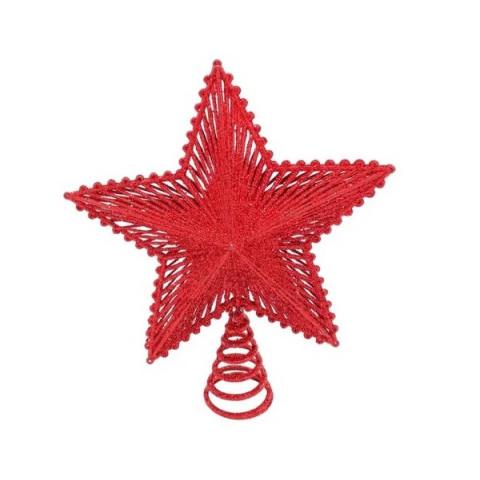 Ponteira Aramada Estrela 20cm Vermelho