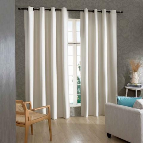 Cortina Corta Luz Tecido 240x420 Cm Branco