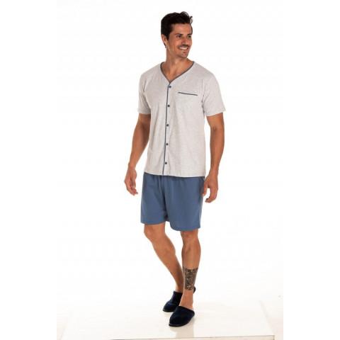 Pijama Adulto Masculino Botão P