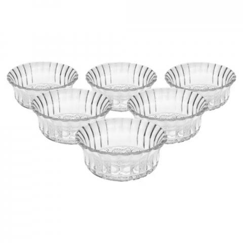 Jogo Bowls De Vidro Angel Com 6 Peças