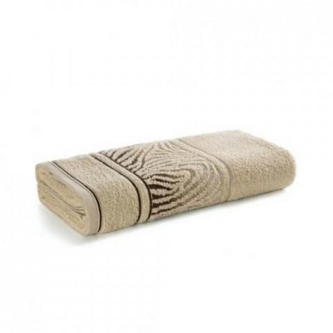 Toalha de Banho Karsten Fio Cardado Animale Ivory/Bege