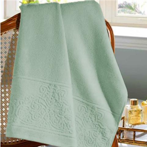 Toalha De Rosto Felpudo Jacquard Confort Lis 50x90 Cm Verde