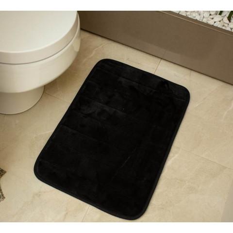 Tapete Banheiro Visco Preto 40X60Cm