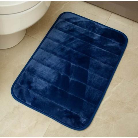 Tapete Banheiro Visco Azul  40X60Cm