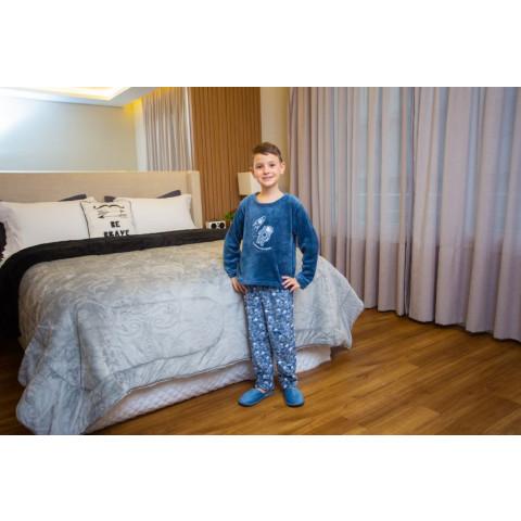 Pijama Flanel Bordado Kids Daju Astronauta