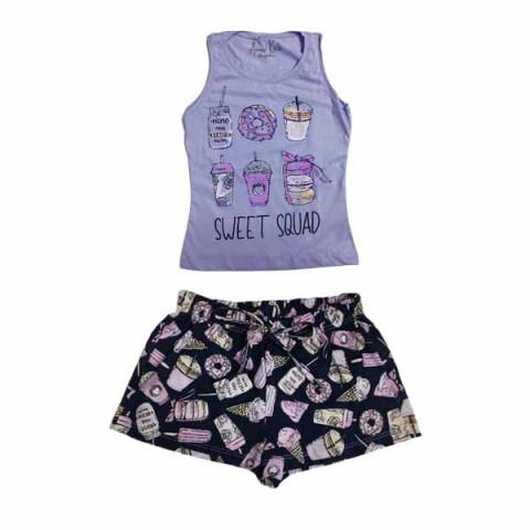 Pijama Infantil Feminino Regata 6 Anos
