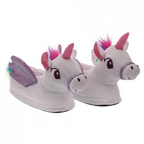 Pantufa Infantil Unicornio Com Asas