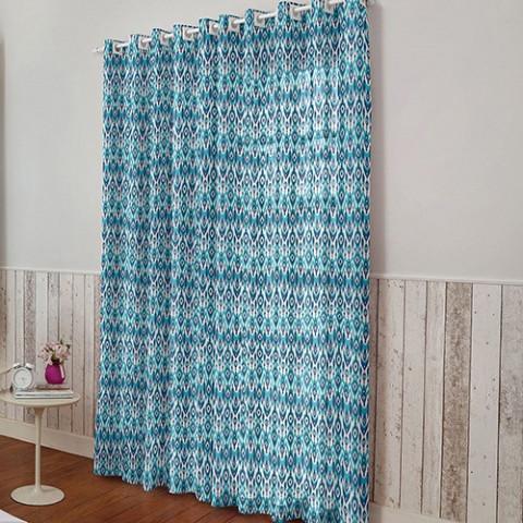 Cortina Malay 280x230 Cm Esmeralda Azul