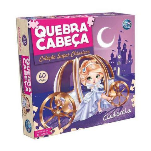 Brinquedos Quebra Cabeça Cinderela Premium 60 Peças.