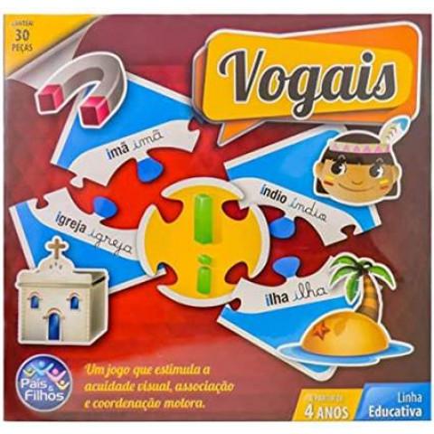 Brinquedos Jogo Brincar De Aprender Vogais 30 Peças.