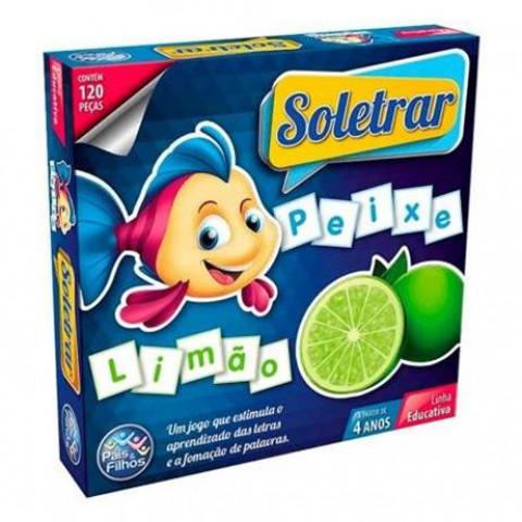 Brinquedos Jogo Brincar De Aprender Soletrar 120 Pcs.