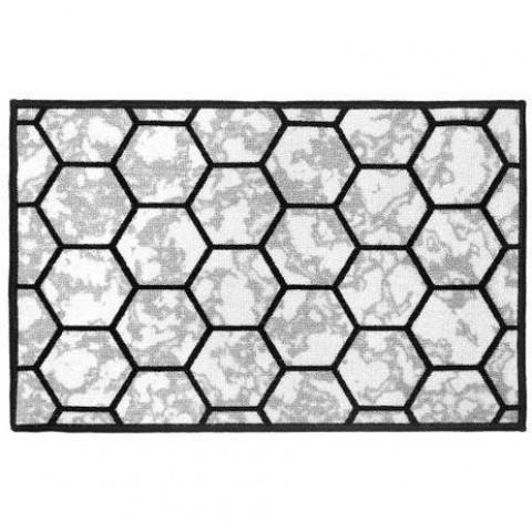 Tapete Cleankasa 50X75 Cm Ref 14 Marmore Hexagonal .