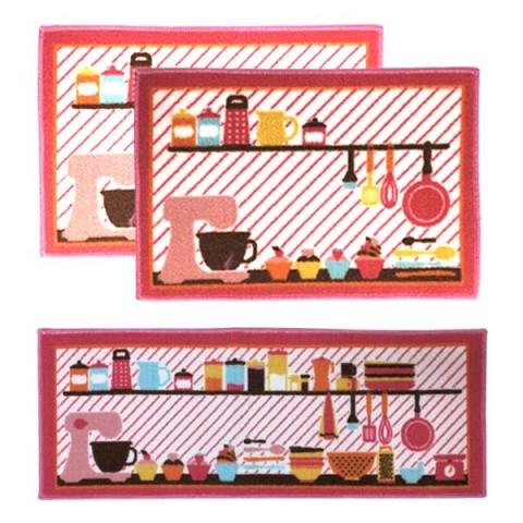 Kit de tapetes Cozinha 3 Peças