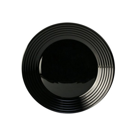 Prato Raso Harena Black Vidro 27 Cm