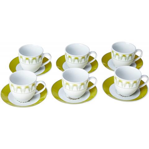 Conjunto De Xícaras Com Pires Para Café  Porcelana 90Ml