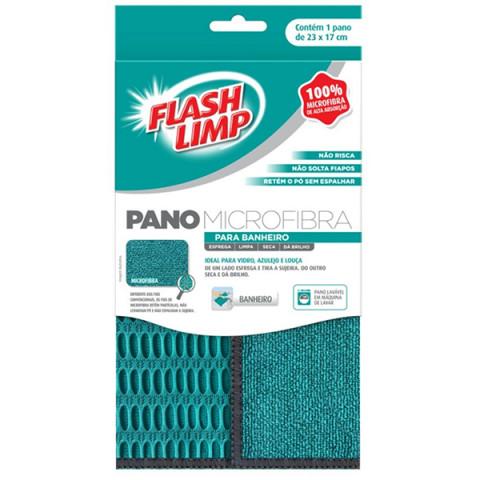 Pano de Microfibra Para Banheiro Flash Limp